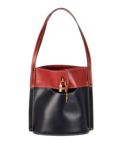 Aby Two-Tone Bucket Bag