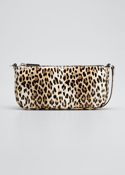 Rachel Patent Leopard Shoulder Bag