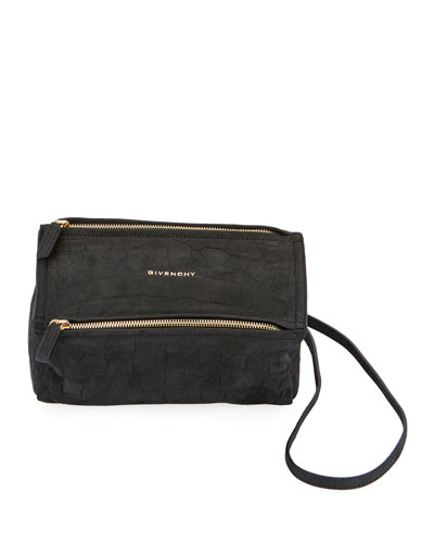 Pandora Mini Mock-Croc Nubuck Satchel Bag