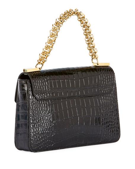 Catena Small Crocodile Shoulder Bag