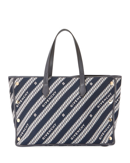 Medium Bond Chain Canvas Tote Bag
