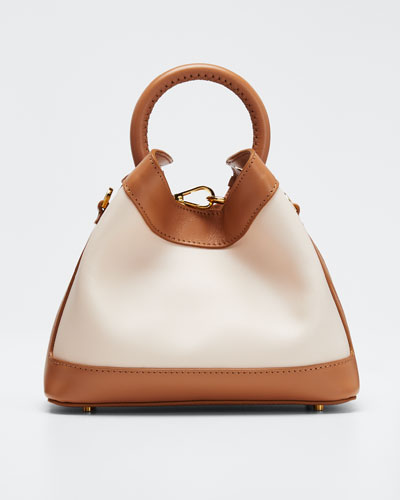 Baozi Medium Colorblock Leather Tote Bag