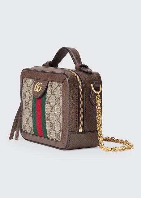 Ophidia Mini GG Supreme Top-Handle Shoulder Bag