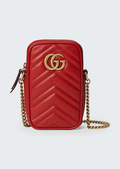 GG Marmont Mini Leather Crossbody Bag