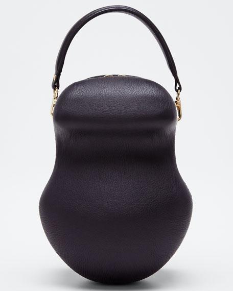 Leather Scarab Top Handle Bag