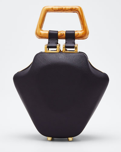 Leather Micro Tut Top Handle Bag