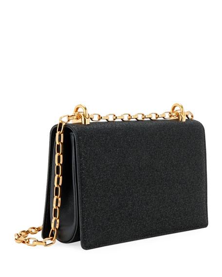 Baroque Small Shimmery Crossbody Bag