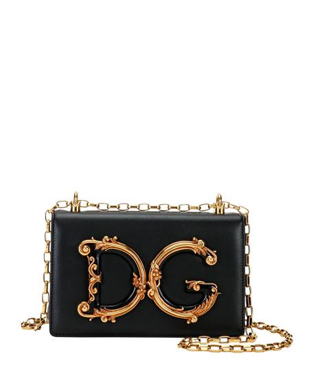 Baroque Small Leather Crossbody Bag