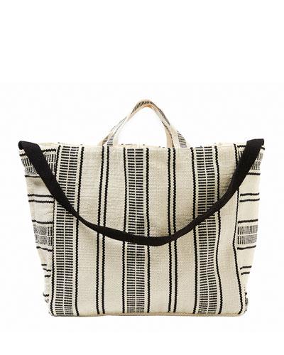 Essential Striped Beach Tote Bag