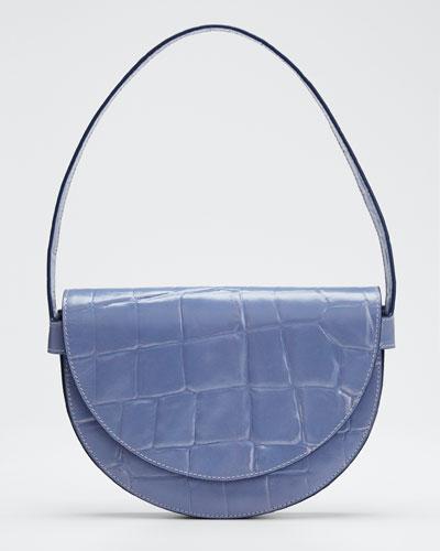 Stamped Crocodile Amal Shoulder Bag