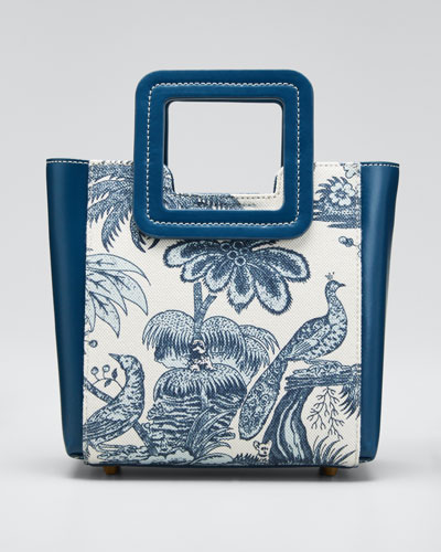 Shirley Peacock Canvas Mini Tote Bag