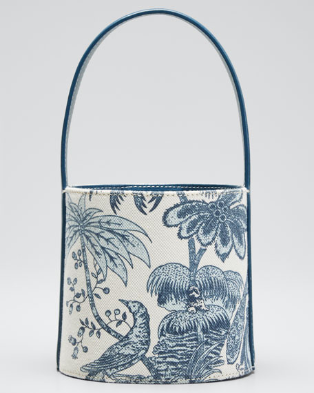 Image 1 of 1: Bisset Peacock Canvas Mini Bucket Bag