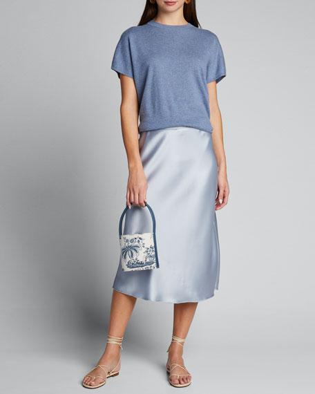 Bisset Peacock Canvas Mini Bucket Bag