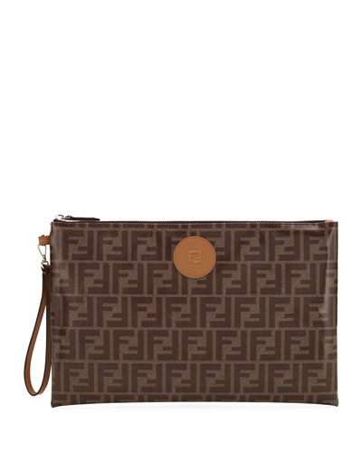 FF Fabric Large Zip Wallet