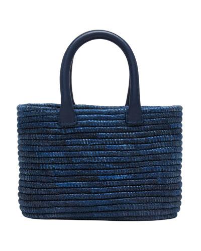 Striped Mini Top Handle Bag