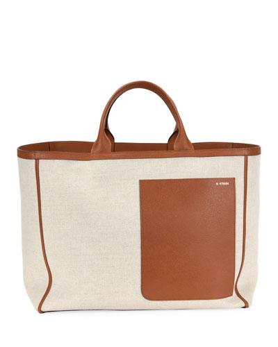 Borsa Canvas Shopper Tote Bag