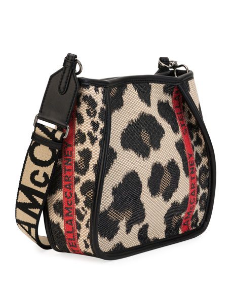 Mini Leopard Logo Crossbody Bag