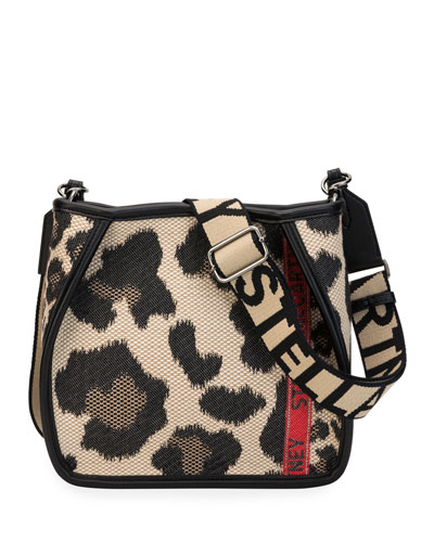 Mini Leopard Logo Crossbody Bag