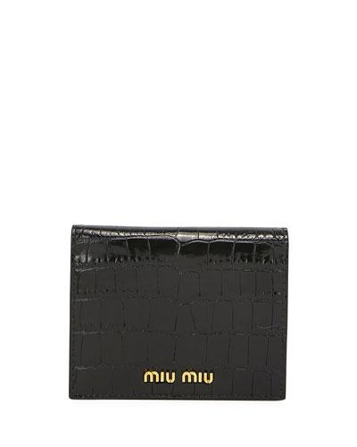 Croc-Embossed Wallet