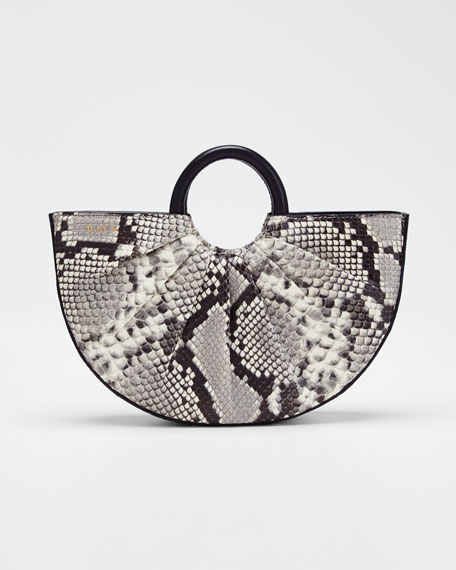 Python-Print Mini Top Handle Tote Bag