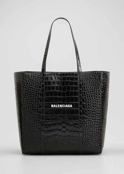 Everyday Small Shiny Embossed Croc Tote Bag