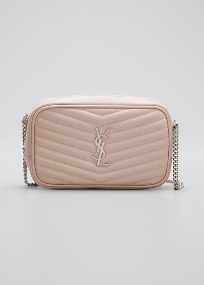 Lou Mini Monogram YSL Quilt Calf Camera Bag