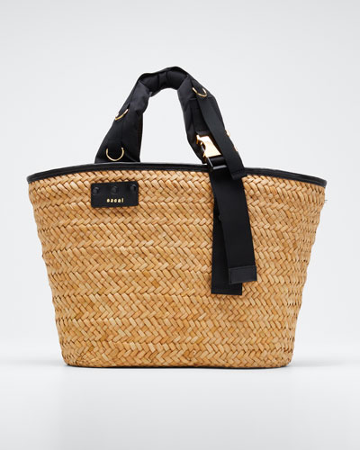 Hybrid Marche Large Woven Bucket Bag