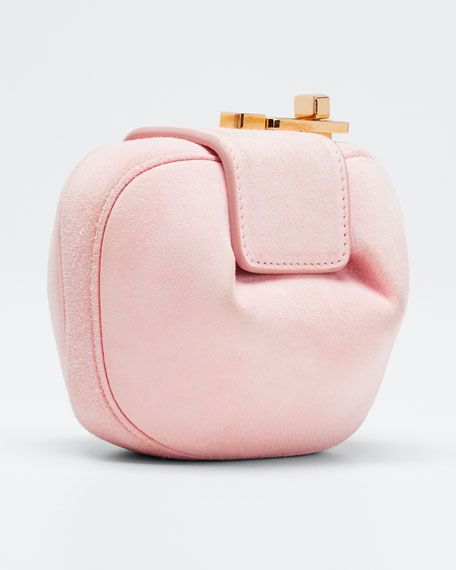 Rafaela Suede Wallet, Pink