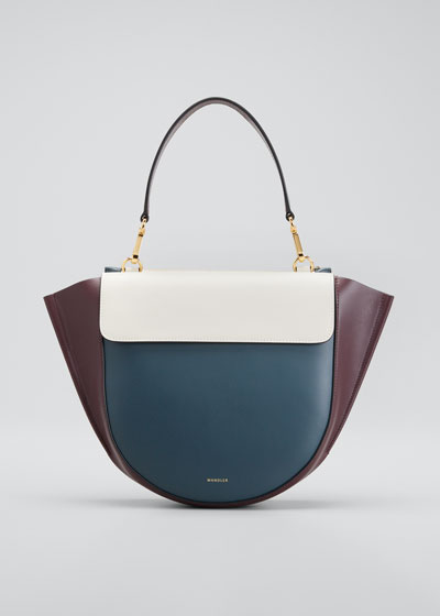 Hortensia Medium Bicolor Top-Handle Bag