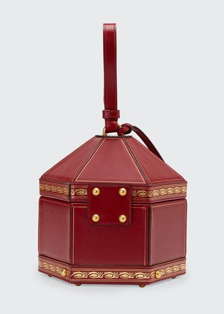 Geometrica Mini Leather Top-Handle Bag