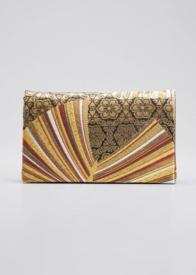 Papillon Sur Tapisserie Embroidered Clutch Bag