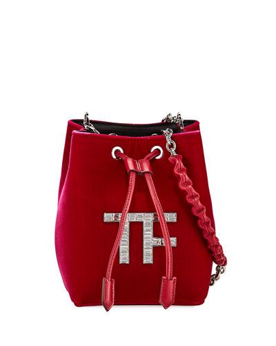 Velvet Mini Bucket Bag