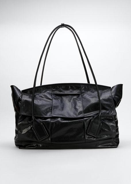 Large Intrecciato Top Handle Tote Bag