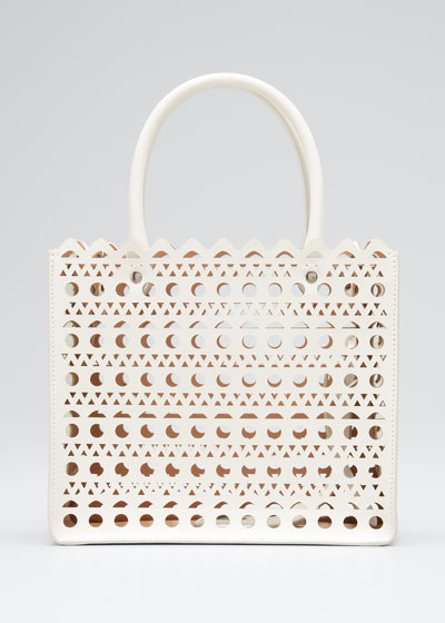Garance Small Laser-Cut Box Tote Bag