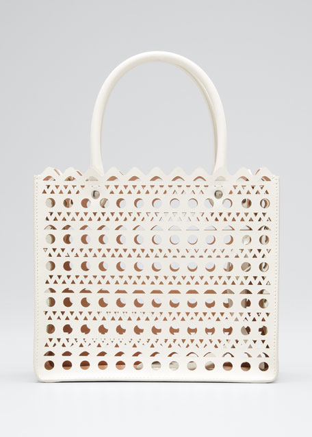 Garance Small Laser-Cut Box Tote Bag