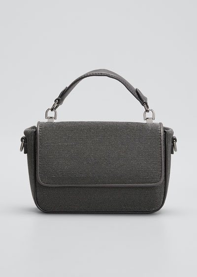 Textured Leather Shoulder/Belt Bag