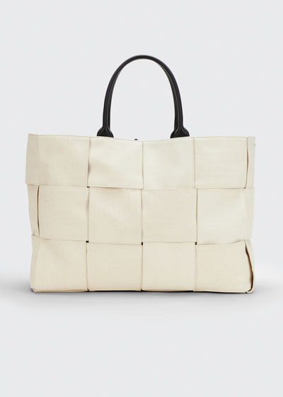 Arco Large Intreccio Canvas Tote Bag