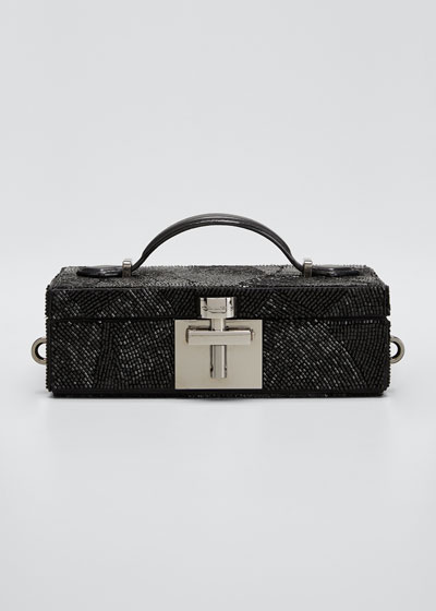 Alibi Satin Minaudiere Clutch Bag