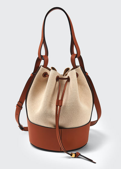 Balloon Two-Tone Bucket Bag