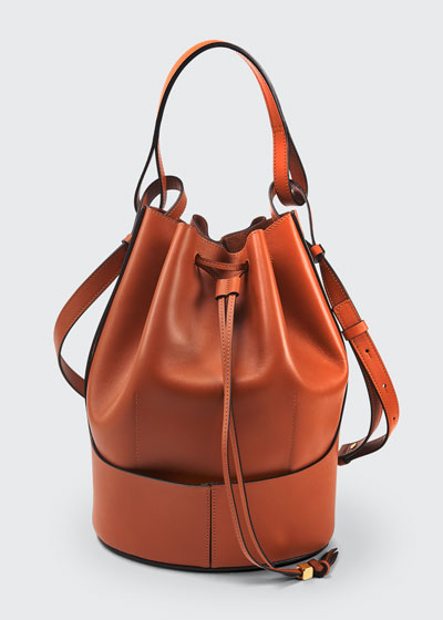 Balloon Leather Bucket Bag