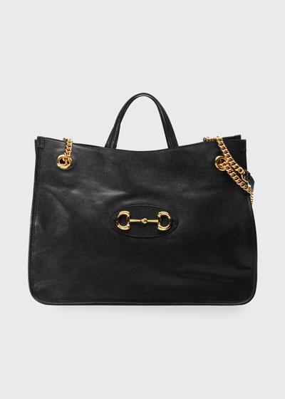 1955 Horsebit Large Chain Tote Bag