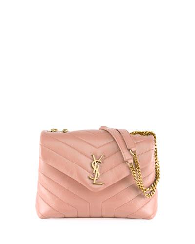 Loulou Small Matelasse Calfskin Flap-Top Shoulder Bag