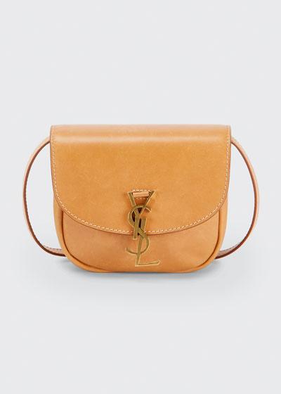 YSL Mini Flap-Top Leather Crossbody Bag