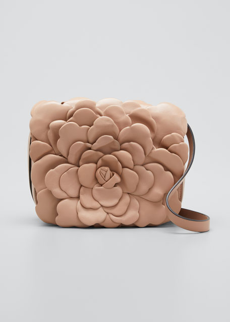 Image 1 of 1: Atelier Leather Rose Small Shoulder Bag