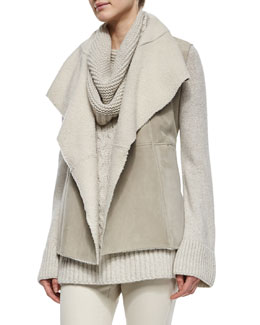 Hartfield Topstitched Shearling Gilet
