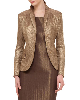 Shattered Metallic Jacquard Jacket