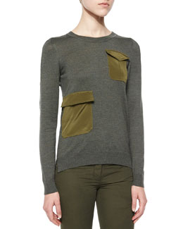 Radley Flap-Pocket Knit Sweater