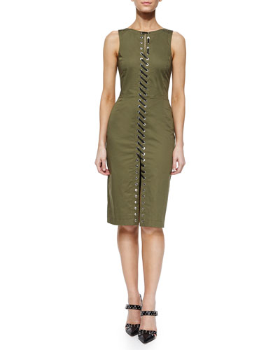 Jay Lace-Up Sheath Dress