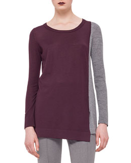 Colorblock Scoop-Neck Sweater