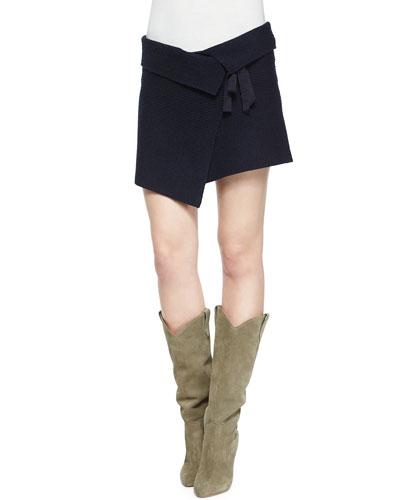 Lyneth Asymmetric Wrap Mini Skirt